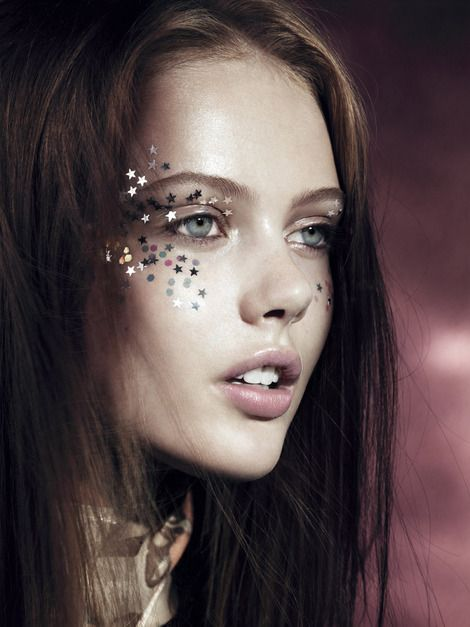 Gallery Update - Seeing Stars - Thanks so much to everyone who has watched my teaser of this month's Vogue beauty story, Seeing Stars on the new iPad app. For those of you who haven't seen them yet, here are the gorgeous images from the shoot. The stars are a mix of free hand drawn, stencilled, held...