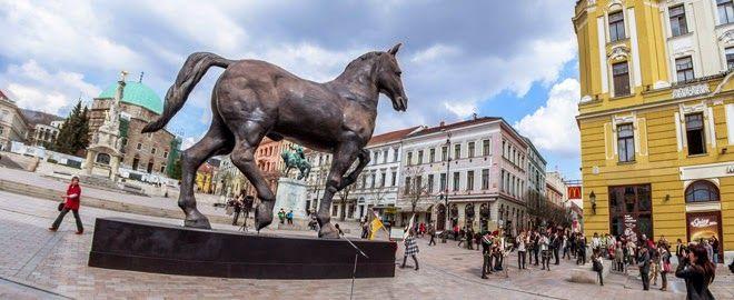 Leonardo da Vinci kiállitás 2014: Leonardo Sforza lovas szobra, Pécs. 2014