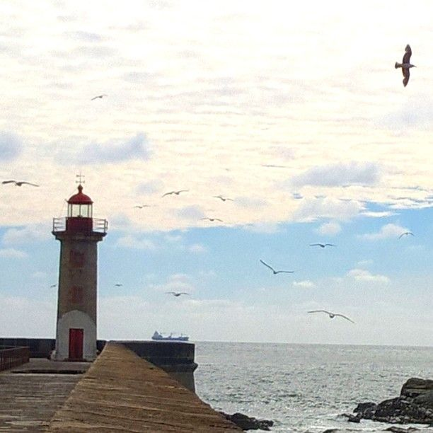 Le phare. #boudutoulouse #trip #travel #ocean #Portugal #skyporn