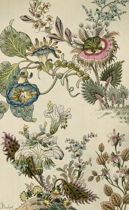 Japanese Fantasy Flowers - Art Deco floral - TROWBRIDGE antique archives