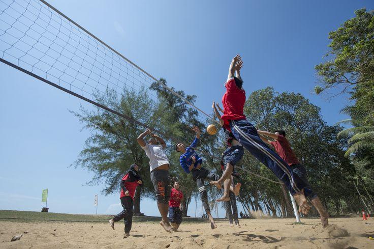 VolleyBall at Cherating Beach Resort !!