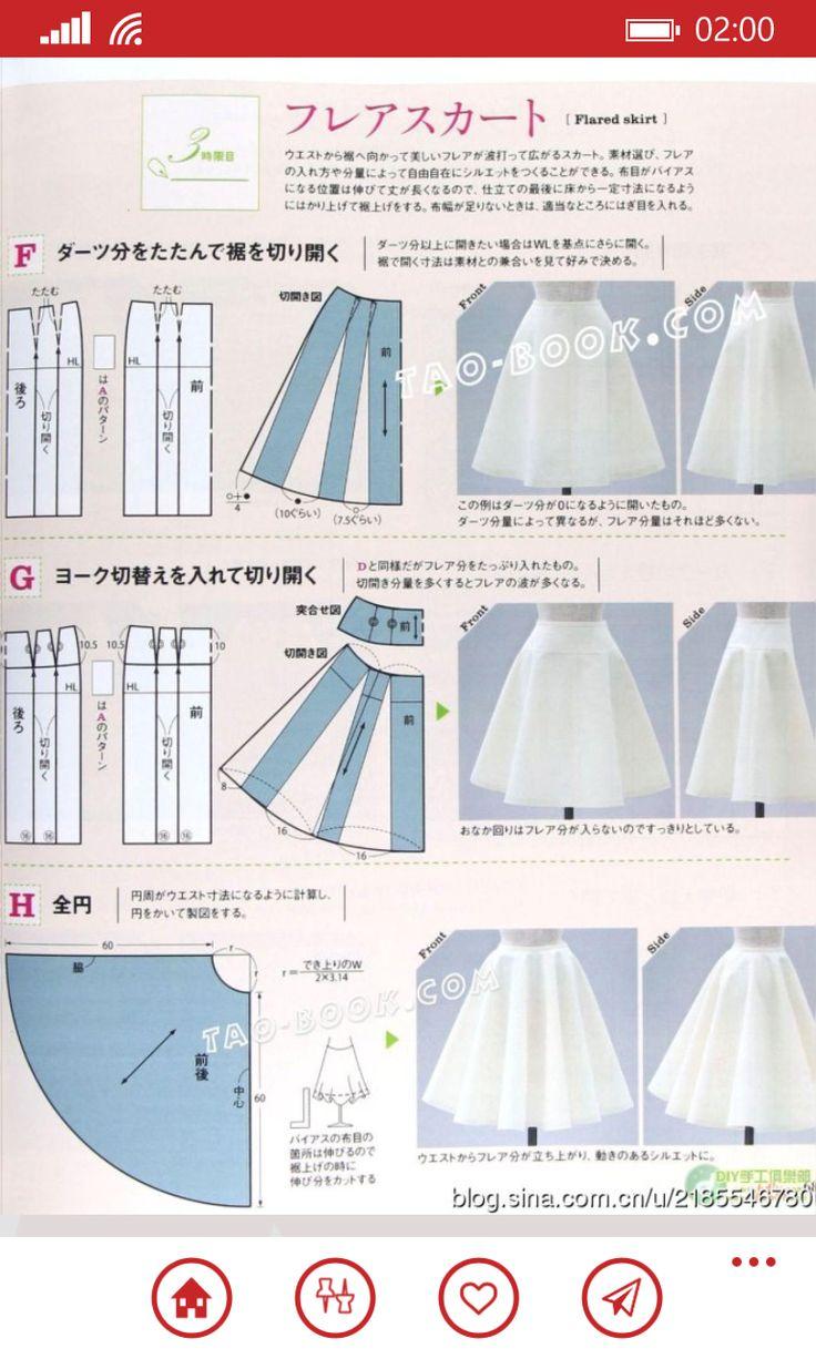 Skirt patterns;