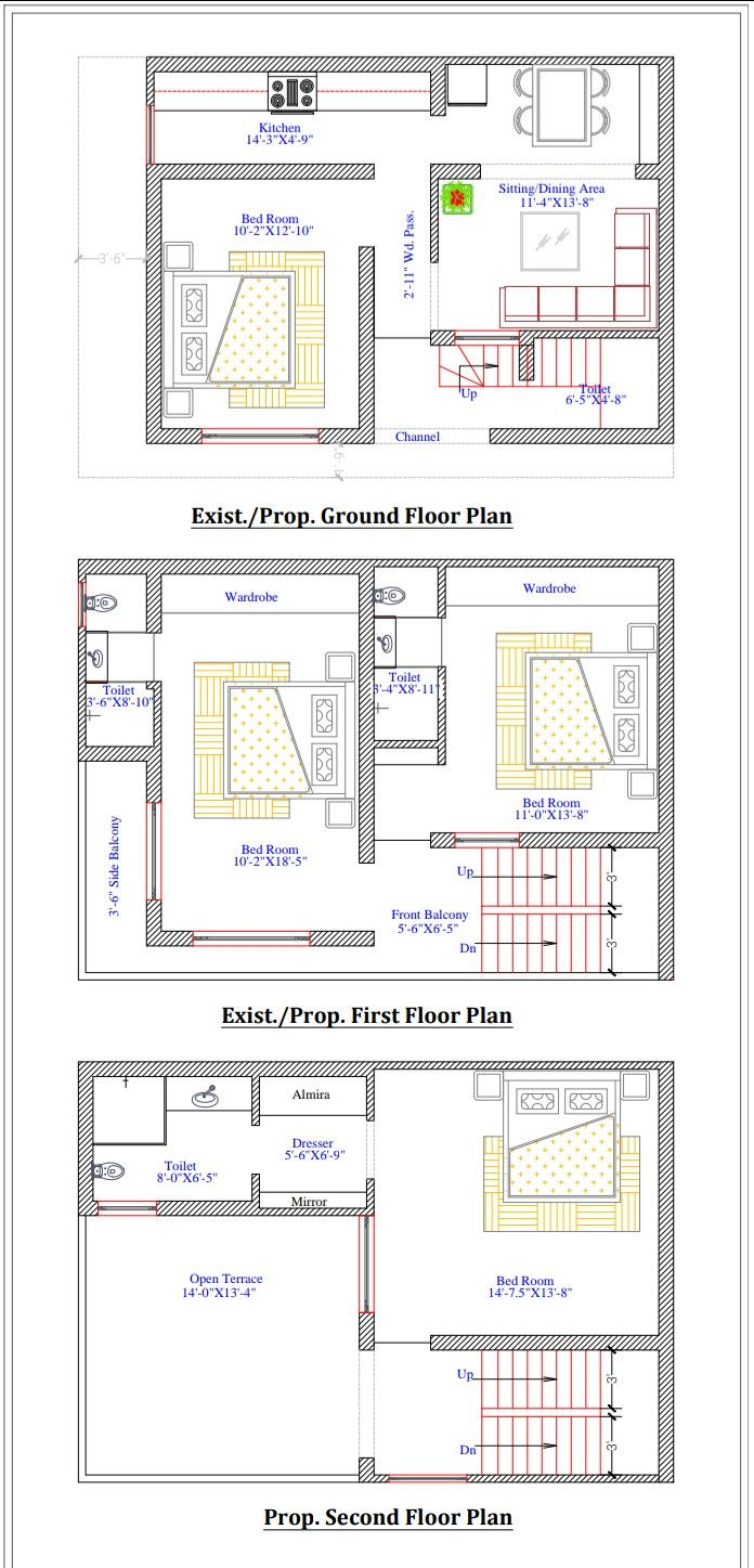 G F S Floor Plan Existing Nd Proposed Floor Plans Luxury House Plans Normal House