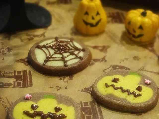 ハロウィンかぼちゃアイスボックスクッキーの画像