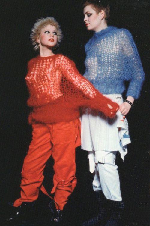 Debbie Juvenile & Tracie O'Keefe / Seditionaries 1977 / Photo by Simon Barker