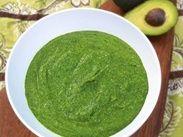Соус из шпината и авокадо