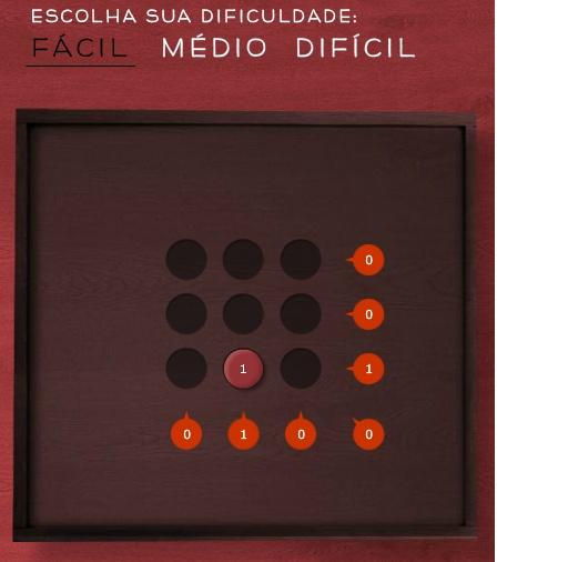 Quadrado mágico- com 3 níveis - Fácil, Médio e Difícil.