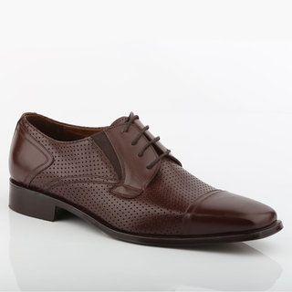 Guess Jackson - Zapatos de cordones para hombre marrón cuero Size: 40 TCcihwPH0