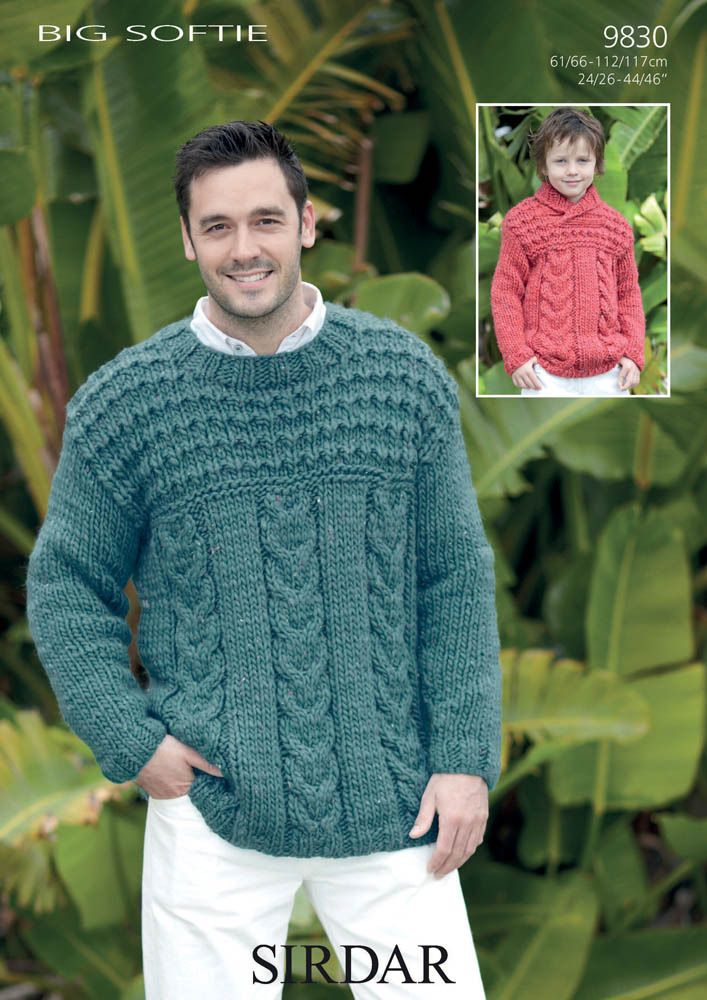 Aran Jumper in Sirdar Big Softie - 9830
