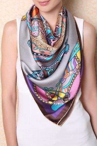 Silk Square Scarf - Oriental style by VIDA VIDA cWLCGEC1