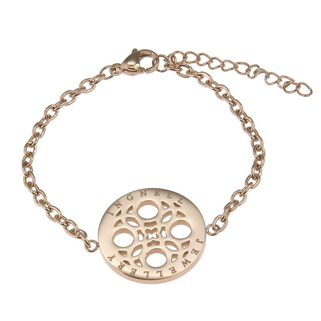 Ingnell Jewellery - Marika bracelet rose. Stainless steel. ingnelljewellery.com