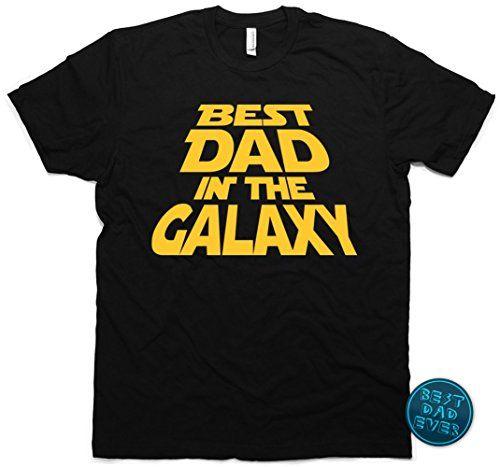 Best Dad in the Galaxy T-Shirt Father's Day Gift & Bonus Men's 2XL (Black)