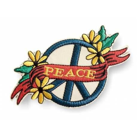GROßES PEACE BÜGELBILD, FLORALER VINTAGE DESIGN PATCH CA.130MM - (#Aufbügler C165)... patch, #bügelbild, #hippie, #love, #peace, #summer, #sommer, #fun, #style, #stil, #regenbogen, #rainbow, #young, #applikation, #fashion, #aufbügler, #pimp, #stick, #casual, #street, #urban, #aufnäher, #symbol, #livestyle, #streetwear, #festival, #frieden, #pazifismus, #friedenssymbol, #freak #out, #liebe
