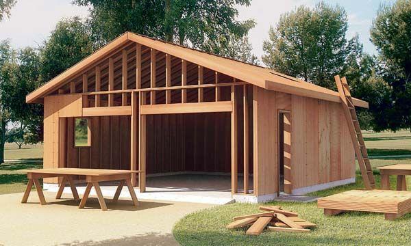 25 best ideas about 2 car carport on pinterest carport for Detached garage plans with carport