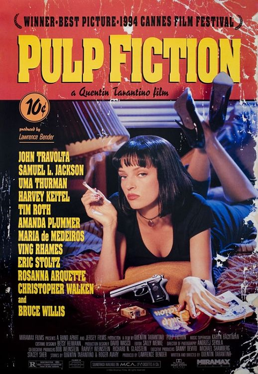 cool Pulp Fiction Film Poster - 1994