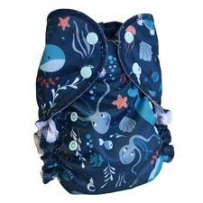 AMP One-Size Duo Pocket Cloth Diaper - Cozy Bums Diapers Canada