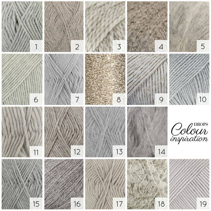 Light grey - Which one do you choose? Pearly light grey for that classic look? Light grey with a blue tone for light summer garments? Or do you spice it up with a silver thread for a bit more glamour? #colour #inspiration #garnstudio