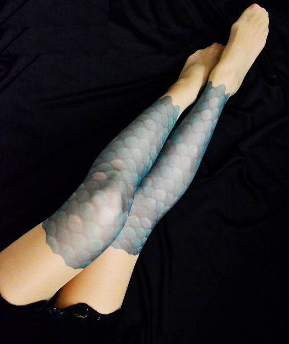 Hey, I found this really awesome Etsy listing at https://www.etsy.com/listing/238642881/new-mermaid-scale-tattoo-tights-s-xxl