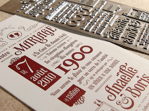 448 best card images on pinterest taylors angel and bride groom make your wedding invitation cards look elegant using letterpress here are 21 letterpress wedding invitation cards for inspiration stopboris Gallery