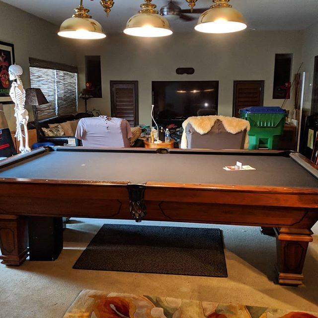 Done Installing This 9 Foot Delmo Pool Table Simonis 860 Black