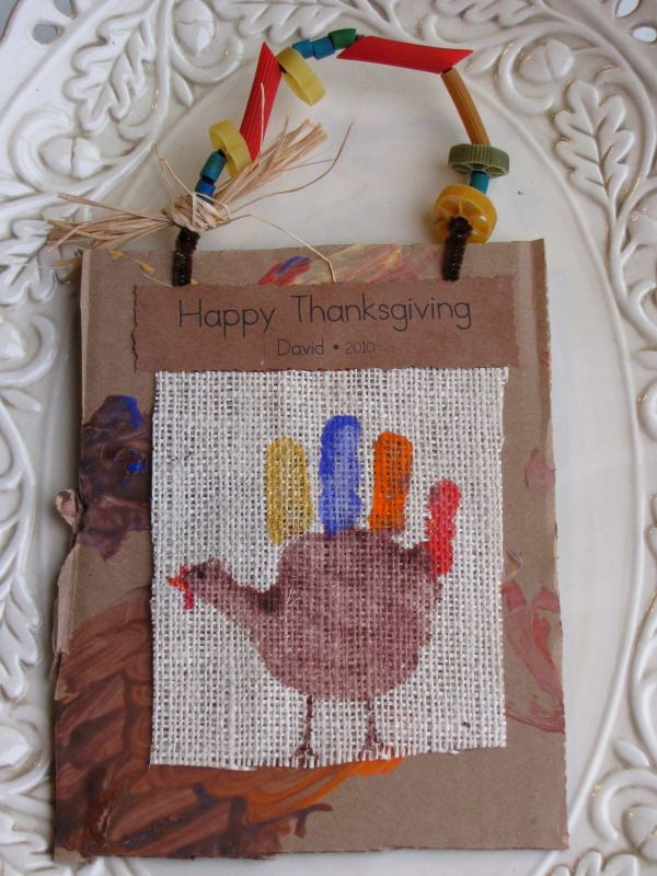 Hand Print Turkey Keepsakes » Things to Share and Remember