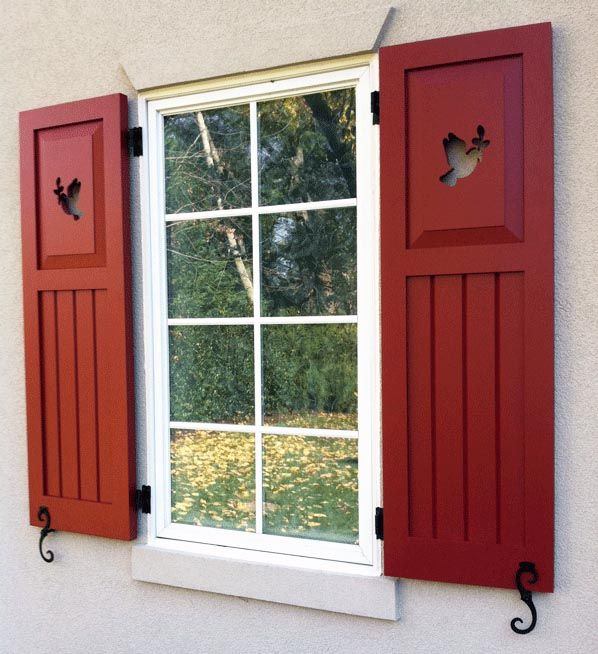 Exterior wood shutters decorative provide privacy - Where to buy exterior window shutters ...