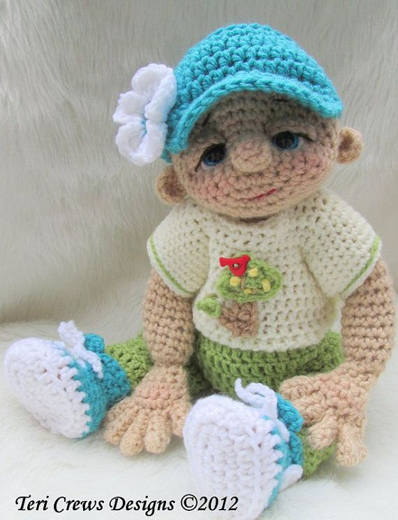 Crochet Pattern Play Wear Doll Clothes Set for So Cute Baby Doll by Teri Crews…