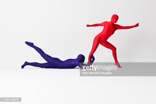 Stock Photo : Couple in bodysuits posing together