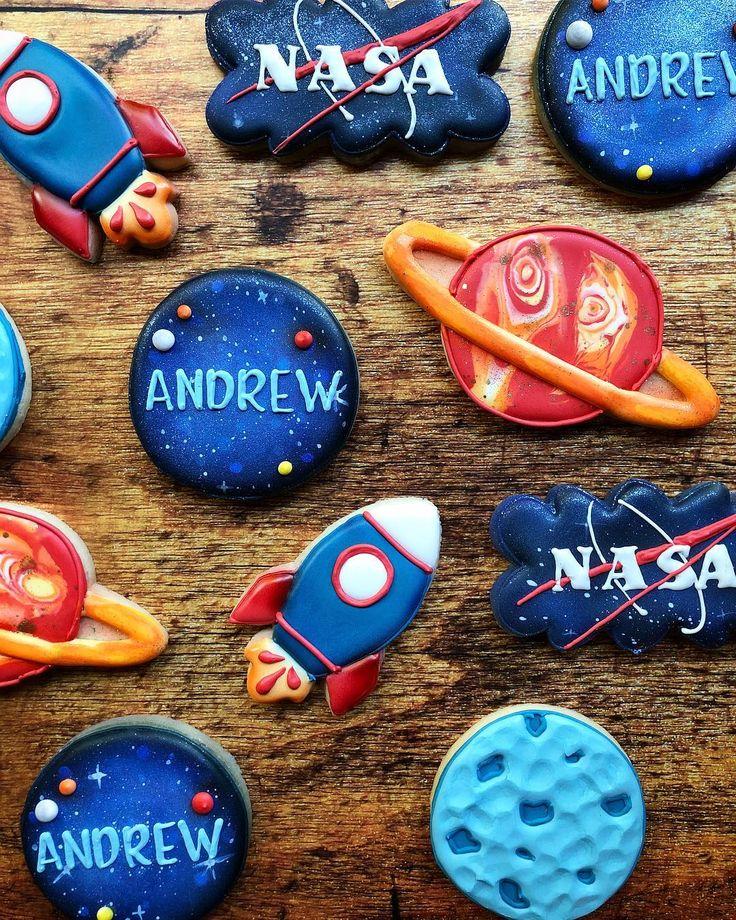NASA and Space Cookies Astronaut birthday, Boy birthday