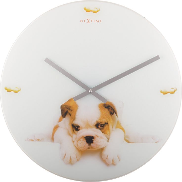 Zegar ścienny Puppy - NEXTIME - DECO Salon. Puppy is a proposal for large and these larger dog lovers. #giftidea #clock