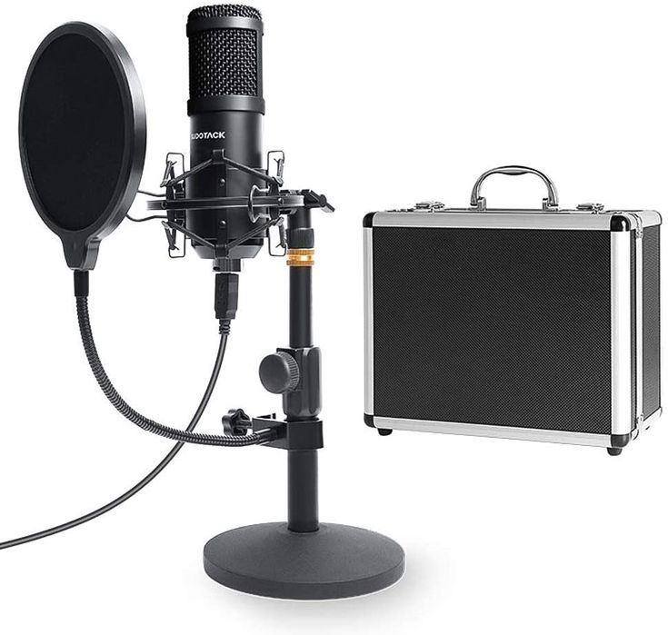 Amazon Com Usb Streaming Podcast Pc Microphone With Aluminum Storage Case Sudotack Professional 192 In 2020 Microphone Sound Card Gaming Microphone