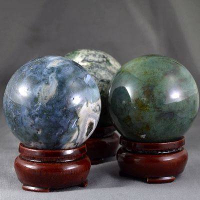 Moss Agate Ball