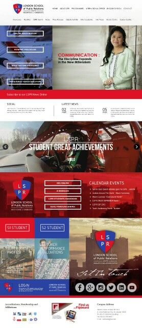 London School of Public Relations (homepage mockup)