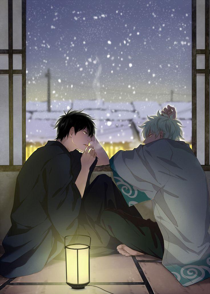 GinHiji Sakata Gintoki x Hijikata Toshirou  Anime-Manga: Gintama  Artist: http://www.pixiv.net/member.php?id=3452620