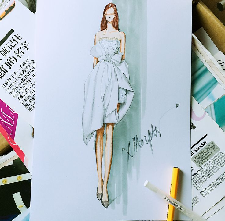 fashion illustrations by xiaoyan liu