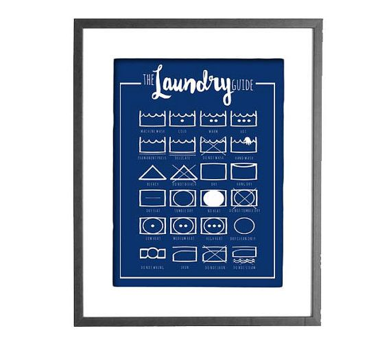 The Laundry Guide  Guide to Laundry Care by CraftivityDesigns