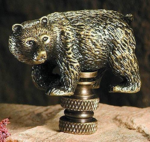 Walking Bear Finial Antique Metal B356A