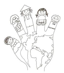 Imprimible: Junts per un món millor.