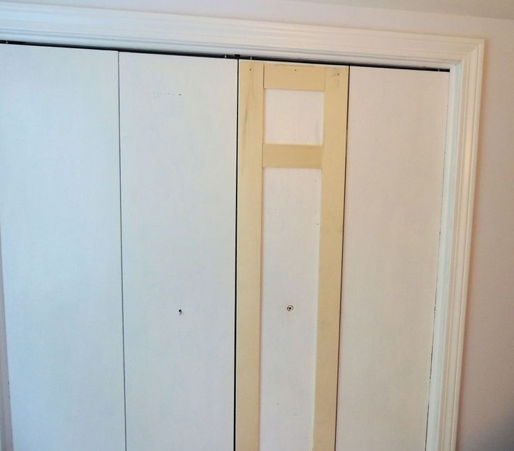 adding trim to our BI-FOLD CLOSET DOORS... we can do this ahead of time: