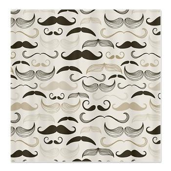 Mustaches Shower Curtain | Shower Curtains | Pinterest | House