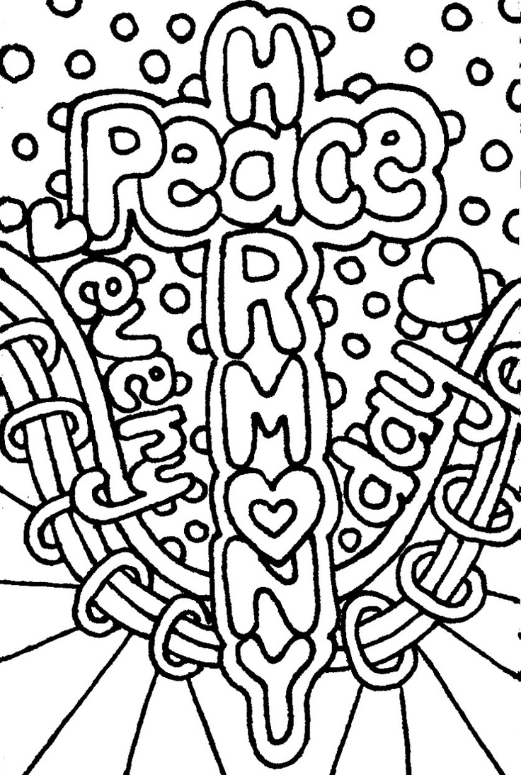 Digital Download Hand Drawn Peace And Harmony Mini Zine Coloring Book Zentangle Inspired