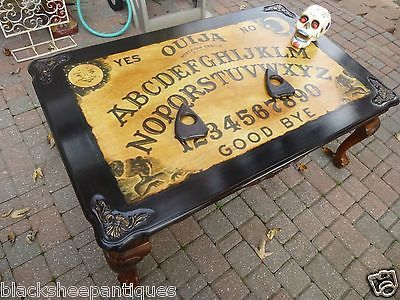 Ouija Board Coffee Table Sofa Spirit Office Planchette Coasters Ball Claw Feet in Home & Garden, Furniture, Tables | eBay