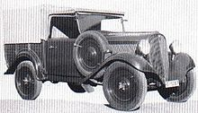 """A Fiat 508m """"Camioncino"""" light supply truck"""