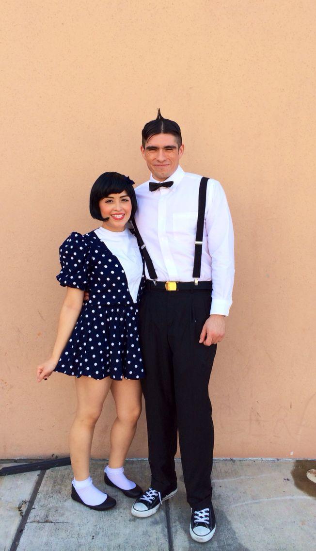 Darla and Alfalfa couple costume #darla #alfalfa #thelittlerascals #halloween #halloweencostume #love #cute #funny