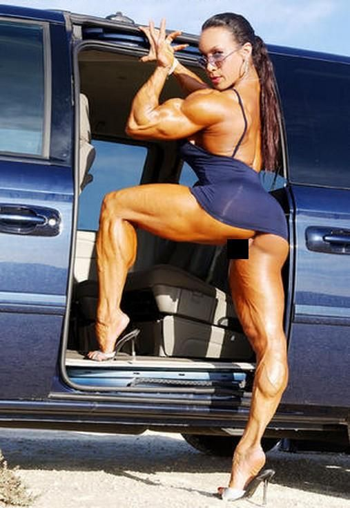 Body builder female fisting created own