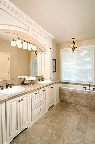 bathrooms with white cabinets | 59_1white_bathroom_cabinetry_white_bathroom_vanity_bronze_faucet_tile ...