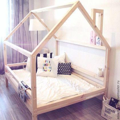 Детская ручной работы. Ярмарка Мастеров - ручная работа. Купить Детская кровать домик Эйвинд. Кроватка ручной работы. Handmade.