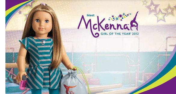 McKenna: American Girl's Girl of the Year Doll for 2012.  Realized last week that I get to buy her for the new baby, since my intention was to buy each daughter the Girl of the Year for the year of her birth.  (My other daughter has the ice skater from 2008.)