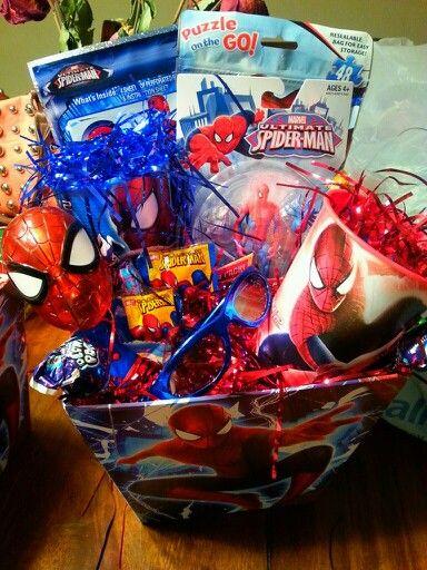27 best easter baskets images on pinterest easter baskets gift ravens custom spider man easter baskets negle Choice Image