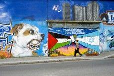 Le conflit israélo-palestinien sur un mûr peint à Paris